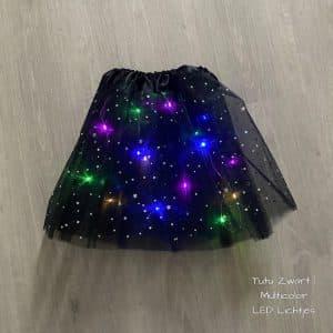 Tutu Zwart Led lichtjes multicolor