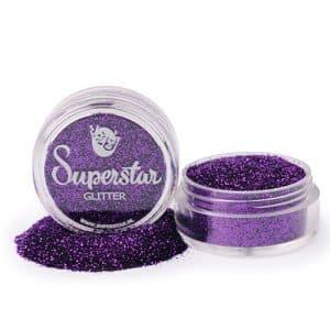 Purple violet glitter