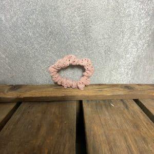 Scrunchie Mini Boderie Roze